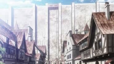 Вторжение титанов - кадр из аниме