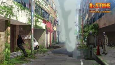 Доктор Стоун - кадр из аниме